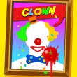 The clown frame — Stockvektor