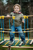 A little boy in the playground — Stock Photo