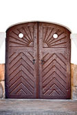 Old wooden outside gate — Stock Photo