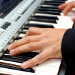 Playing the piano. — Stock Photo
