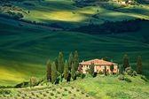 Tuscany landscape - belvedere — Stock Photo