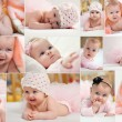 Collage of different photos of children — Stock Photo