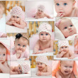 Stock Photo: Collage of different photos of children