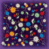 用鲜花抽象 grunge 图 — 图库矢量图片