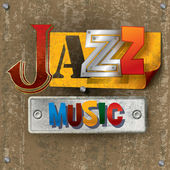 Abstract background with the word jazz — Stock vektor