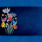 Composição abstrata grunge com flores da primavera — Vetor de Stock