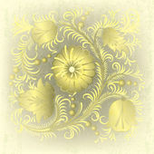 Soyut grunge arka plan bahar çiçek süsleme ile — Stok Vektör