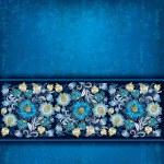 Fondo grunge abstracto con ornamento floral primavera — Vector de stock  #8567694