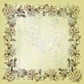 Fondo grunge abstracto con flores de primavera — Vector de stock