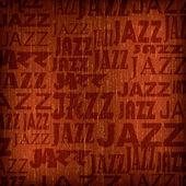 Resumen antecedentes con el jazz de palabra — Vector de stock
