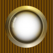 Royalty-Free Stock Vector Image: Golden round frame