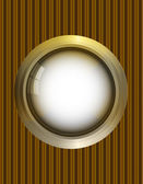 Golden round frame — Stockvektor