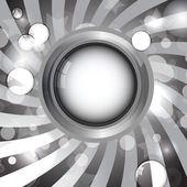 圆银相框 — 图库矢量图片
