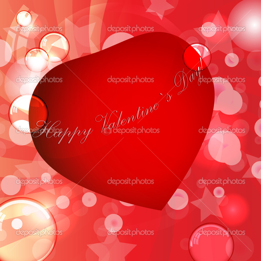 Valentines day vector illustration  Vettoriali Stock  #8553738