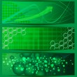 Abstract green banners - Stock Vector