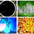 Four abstract backgrounds - Stock Vector
