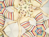 Bright blonde in kaleidoscope — Stock Photo