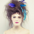 Woman with an unusual hairstyle - Foto de Stock