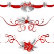 Christmas garlands — Stock Vector