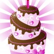 Her birthday cake — Stock Vector
