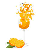 Orange juice — Stockvector