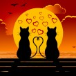 Royalty-Free Stock Vector Image: Cats in love