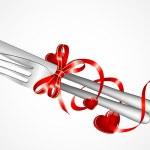 Setting and ribbon — Stock Vector #8985073
