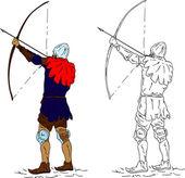 Historic archer — Stock Photo