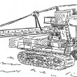 Heavy coal excavator — Foto Stock