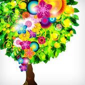 Fondo floral flor colorida. — Vector de stock