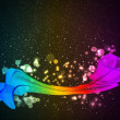 Abstract colorful smoke on a dark background. Vector. — Stock Vector