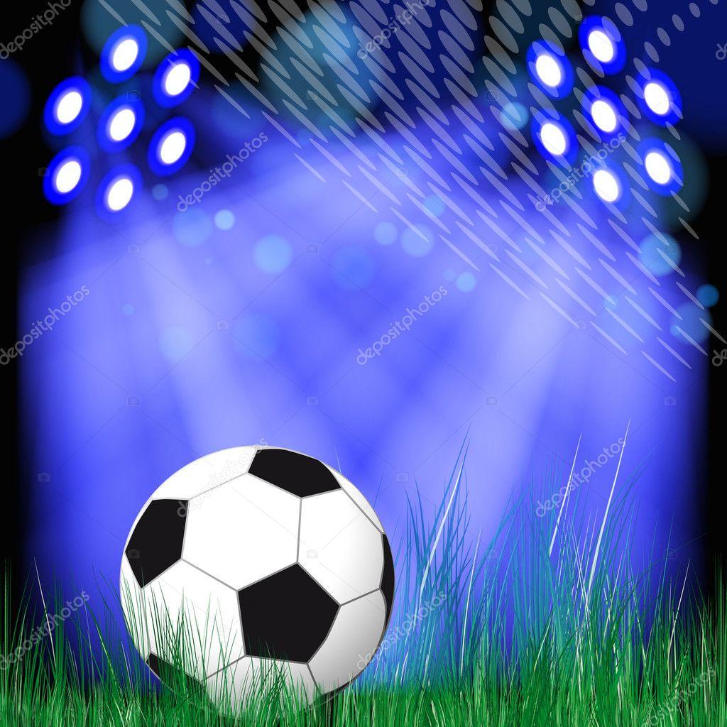 Fondo de bal n de f tbol bal n de f tbol en la hierba for Fondos de futbol