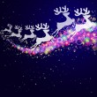 Christmas deers, abstract background. — Stock Vector