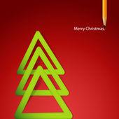 三角ラベル紙から形成されたクリスマス ツリー. — ストックベクタ