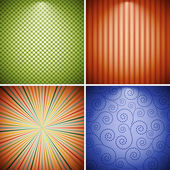 Abstract retro background collection. — Stock Vector