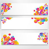 Abstract banner with bright teardrop-shaped arches. — Stock Vector