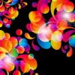Card background. Abstract bright color drops and clean place — Imagen vectorial