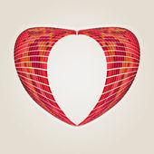 Abstracte oorspronkelijke hart — Stockvector