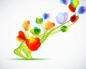Sfondo con un astratto fiori — Vettoriale Stock