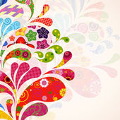 Abstract ornamental floral background. — Stockvector