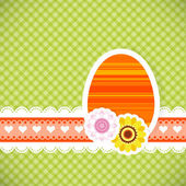 Easter egg from paper Easter card background — Stock Vector