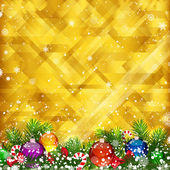 Christmas golden background and place for your text. — Stock Vector
