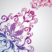 Floral abstrakt mit orientalischen blumen. — Stockvektor
