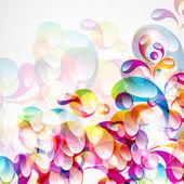 Sfondo astratto colorato arco-goccia. — Vettoriale Stock
