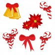 Christmas symbols — Stock Vector