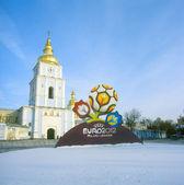 Kyjev, Ukrajina-Prosinec 14: Oficiální logo pro Uefa Euro 2012?. Af — Stock fotografie