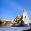 KYIV, UKRAINE-DECEMBER 14: Official logo for UEFA EURO 2012™. Af — Stock Photo