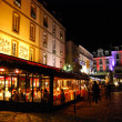Stock Photo: Night at Cafe de L'Quest in Saint Malo