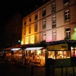 Night at Cafe de Quest in Saint Malo - Stock Photo