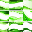 Abstract background vector set — Image vectorielle